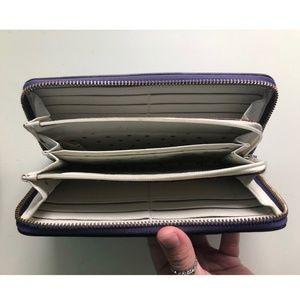 Kate Spade Leather Zip Wallet, Purple